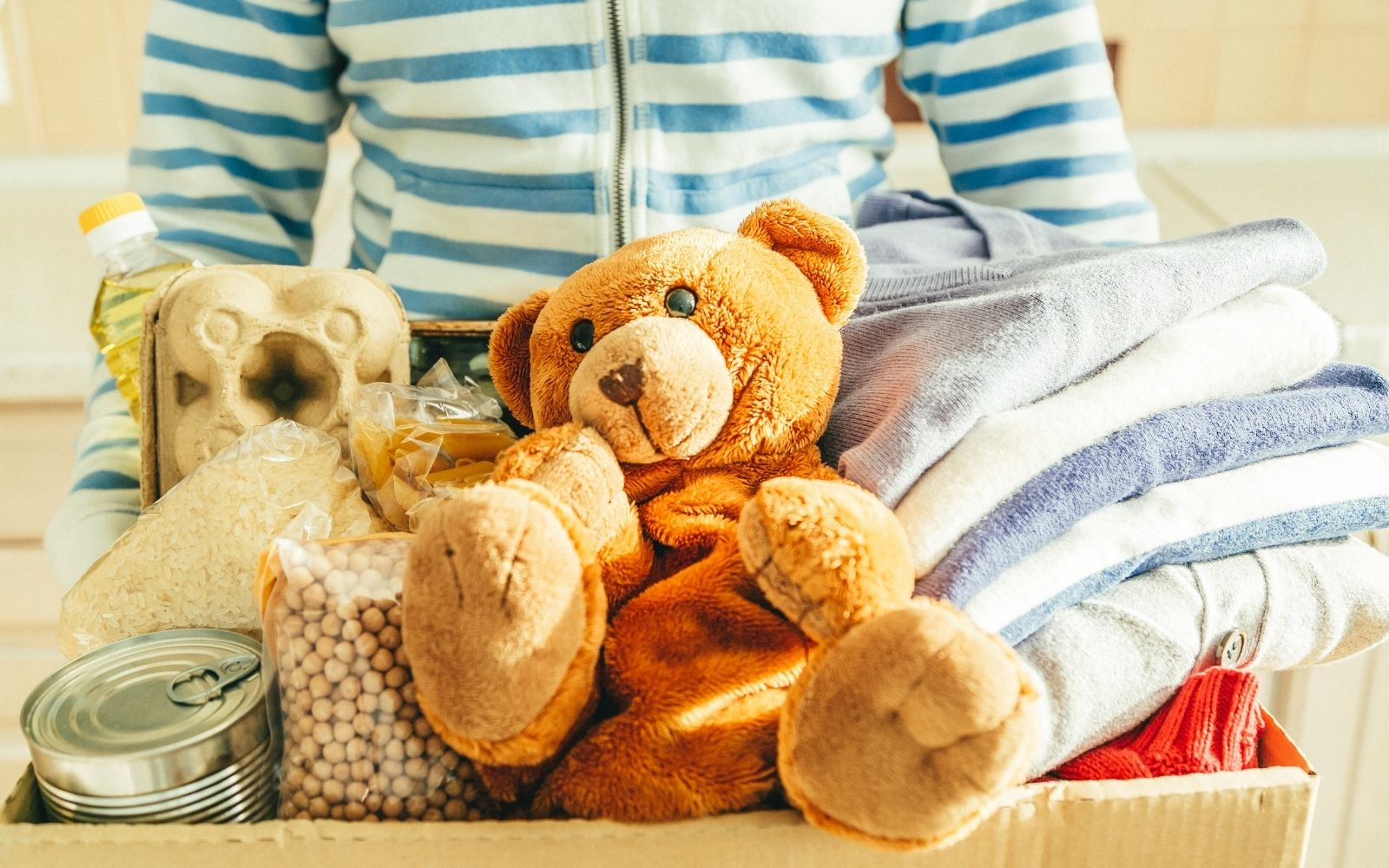 Donate Clothing, Household Items, Stuffed Animals, Games, Toys, and Books